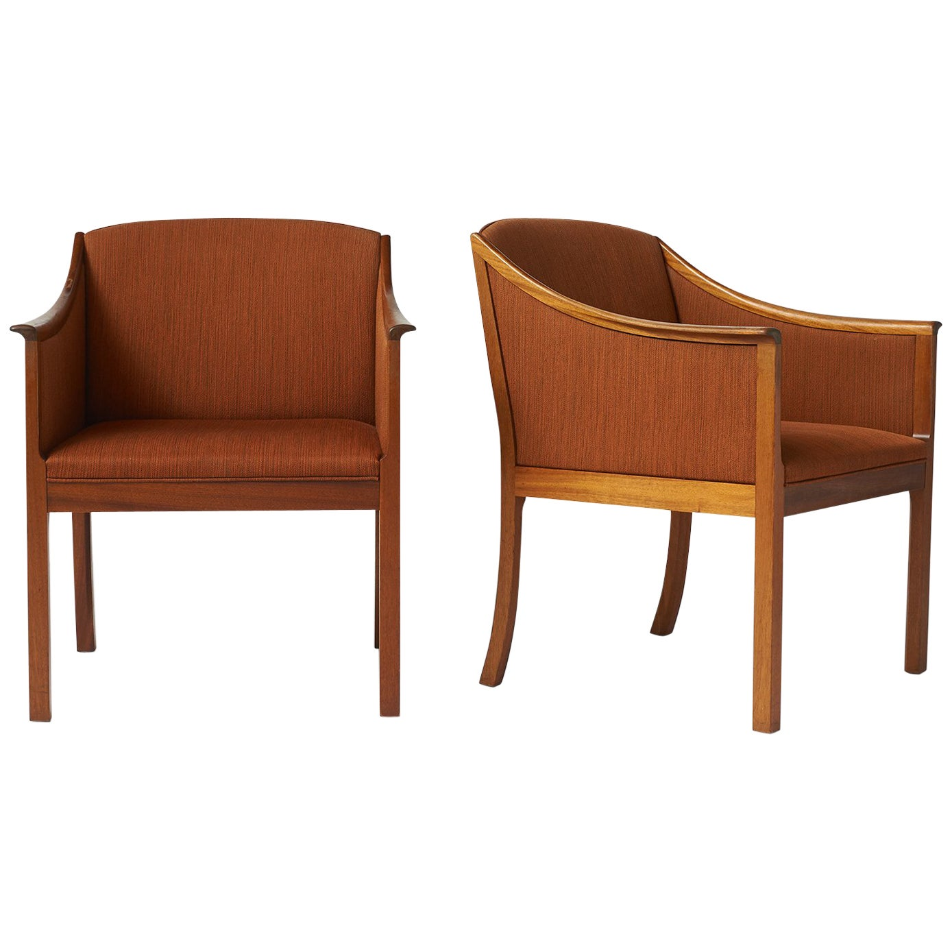 Pair of Lounge Chairs by Ole Wanscher