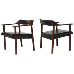 Pair of Lounge Chairs by Joaquim Tenreiro