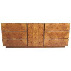 Mid-Century Modern Olive Burl Wood Dresser by Milo Baughman for Lane