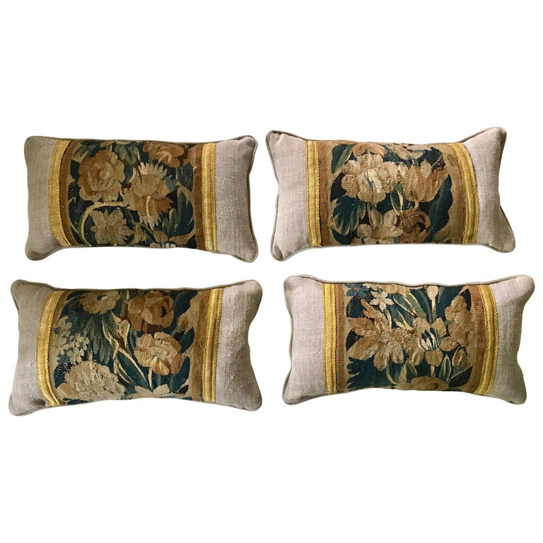 18th Century Tapestry Fragment Pillows