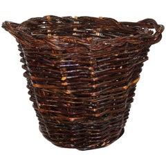 Monumental 20th Century Hickory Gathering Basket