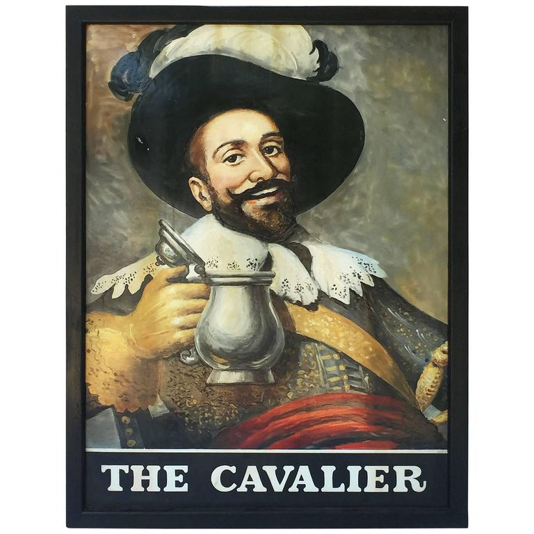 "English Pub Sign, ""The Cavalier"" For Sale"