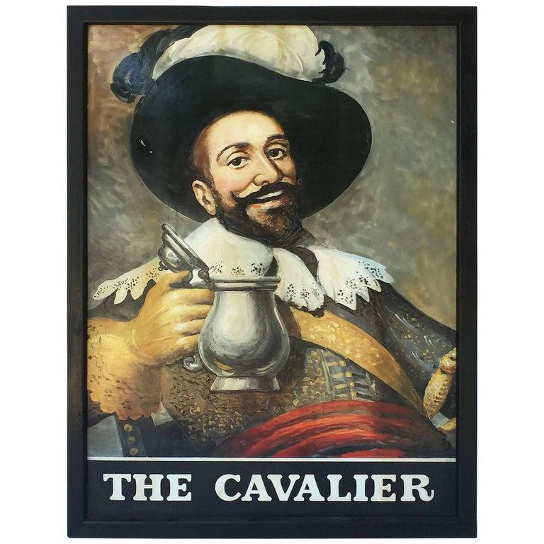 "English Pub Sign, ""The Cavalier"""