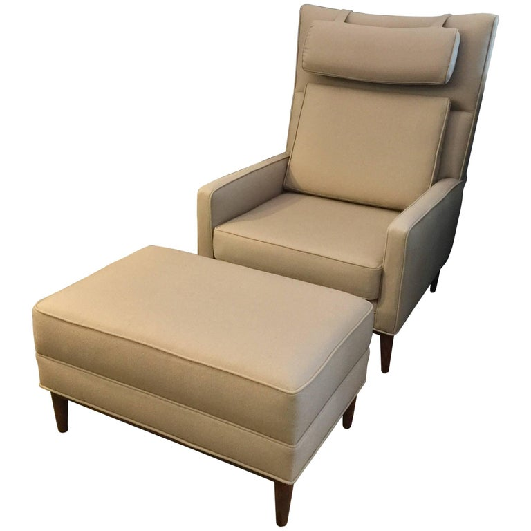 Paul mccobb oversized armchair and ottoman for sale at 1stdibs for Oversized armchairs for sale