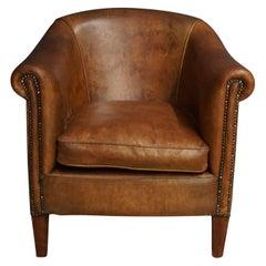 Vintage Cognac Leather Club Chair