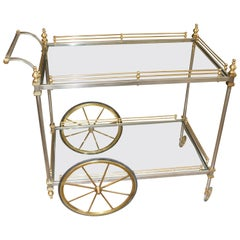 Brass and Steel Bar Cart