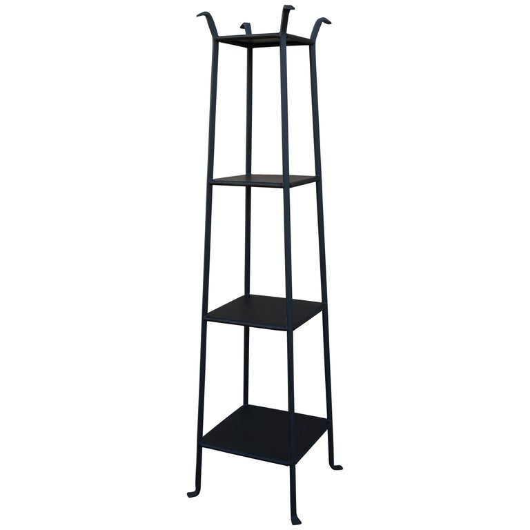 Black metal etagere with graduated shelves for sale at 1stdibs - Etagere modulable metal ...