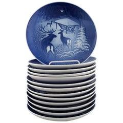 13 Bing & Grondahl Christmas Plates, 1980-1992