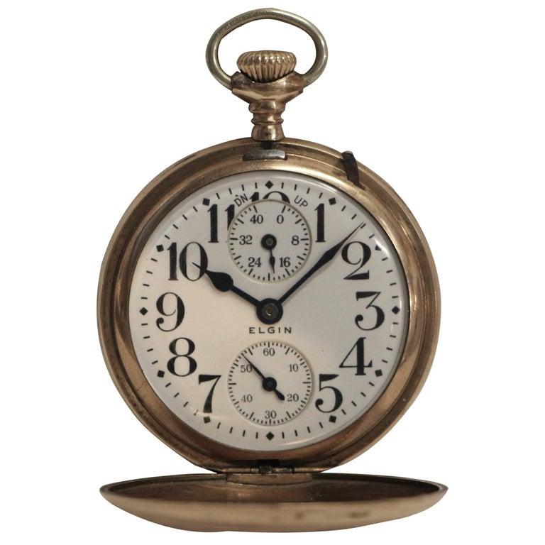 Elgin Veritas 23 Jewel Railroad Pocket Watch with Up Down Indicator