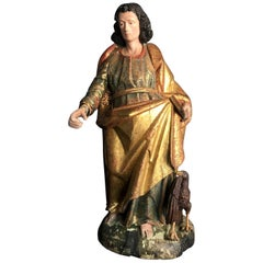 Spanish Colonial Antique Santo Figure