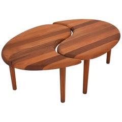 Scandinavian Mid-Century Modern Solid Teak Side Coffee Table