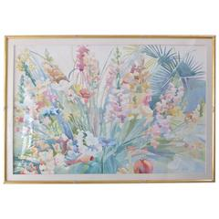 """Large-Scale Watercolor """"Spring Blossoms"""" by Linda Bastian"""