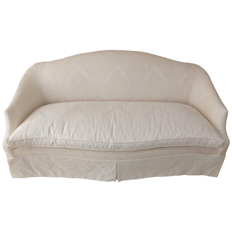 Raw Silk Baker Cream Colored Sofa at 1stdibs