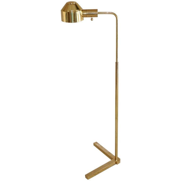 E. F. Chapman Solid Brass Adjustable Height Floor Lamp