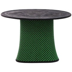 Moroso Baobab Occasional Tables in Handwoven Thread and Concrete by Marc Thorpe