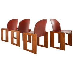 Set of Four Afra & Tobia Scarpa Chairs