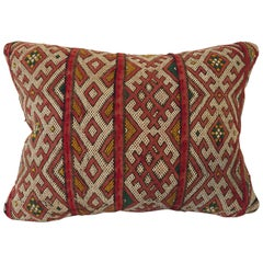 Moroccan Red Berber Tribal Pillow with African Designs