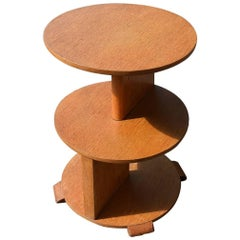 Art Deco High Style Three-Tier Occasional Table