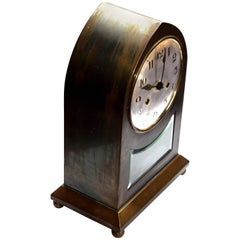 Large Viennese Secession Table Clock Made of Brass