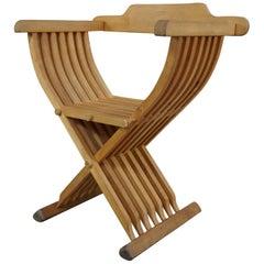 Solid Wood Folding Curule Armchair Called Savonarole