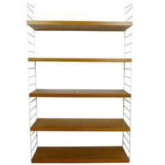 Teak Wall Shelving System by Nisse Strinning for String Design Ab, Sweden, 1960s