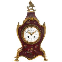 Early 20th Century French Painted Mantel Clock
