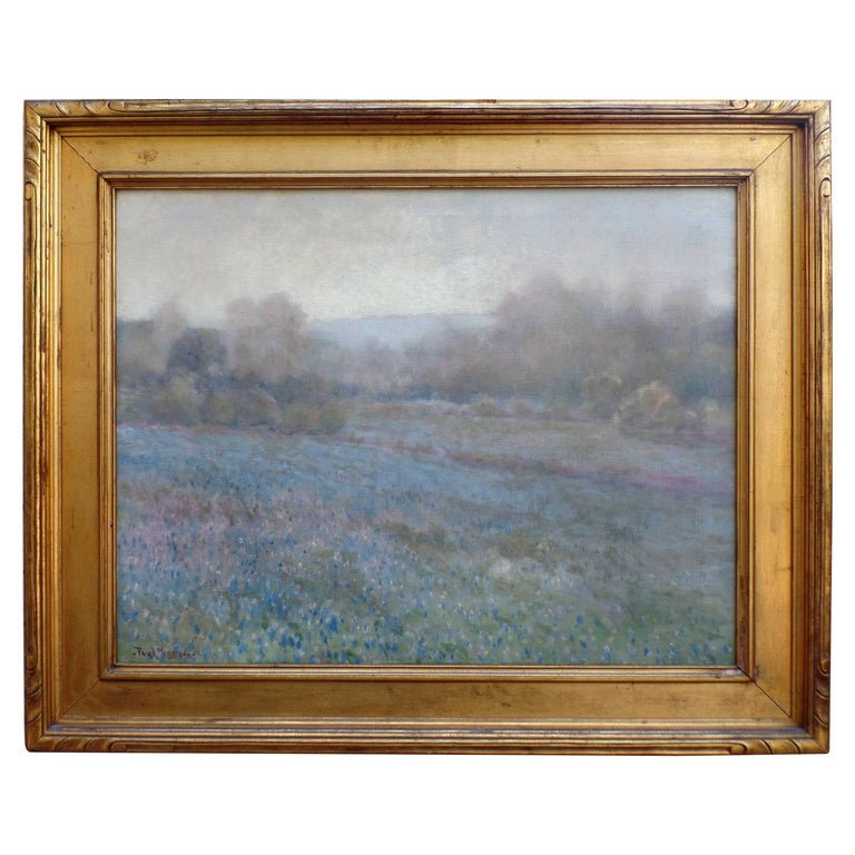 Paul Mersereau Bluebonnets Oil Painting For Sale At 1stdibs