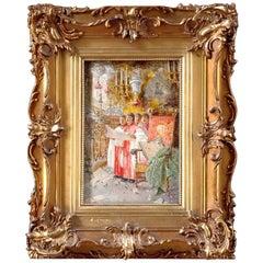 """Antonio Rivas """"Choir Boys"""" Oil Painting"""