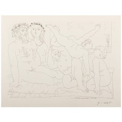 Picasso, Suite Vollard, Sculptor and Modell with a Group of Athletes