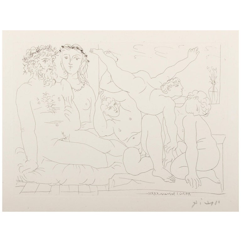 Picasso, Suite Vollard, Sculptor and Modell with a Group of Athletes 1