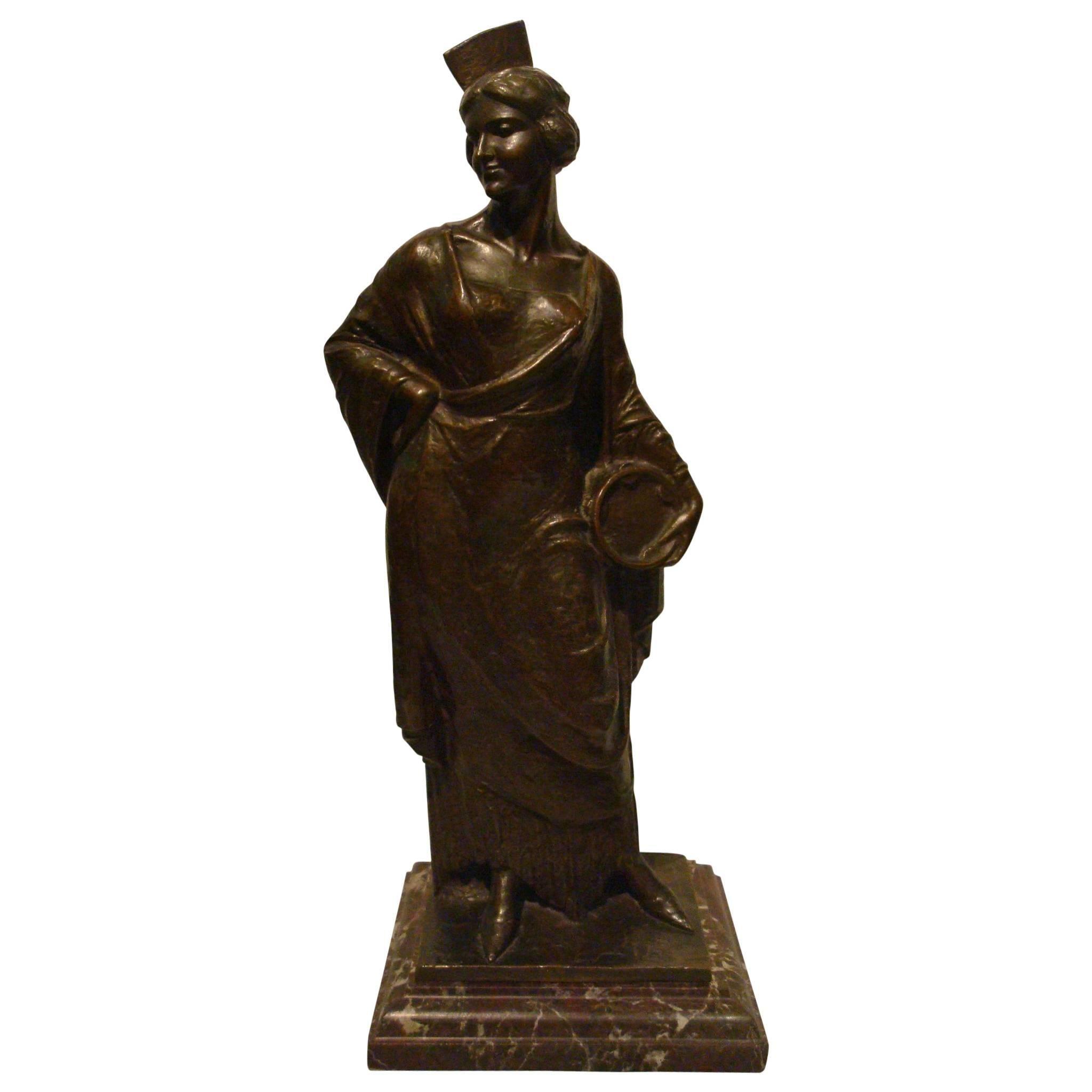 Spanish Flamenco Dancer Bronze Women Figure, 1920s