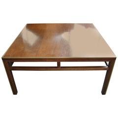 Brass Trim Walnut Lane Coffee Table