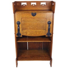 Late 19th Century Arts and Crafts Oak Bureau Attributed to Liberty's