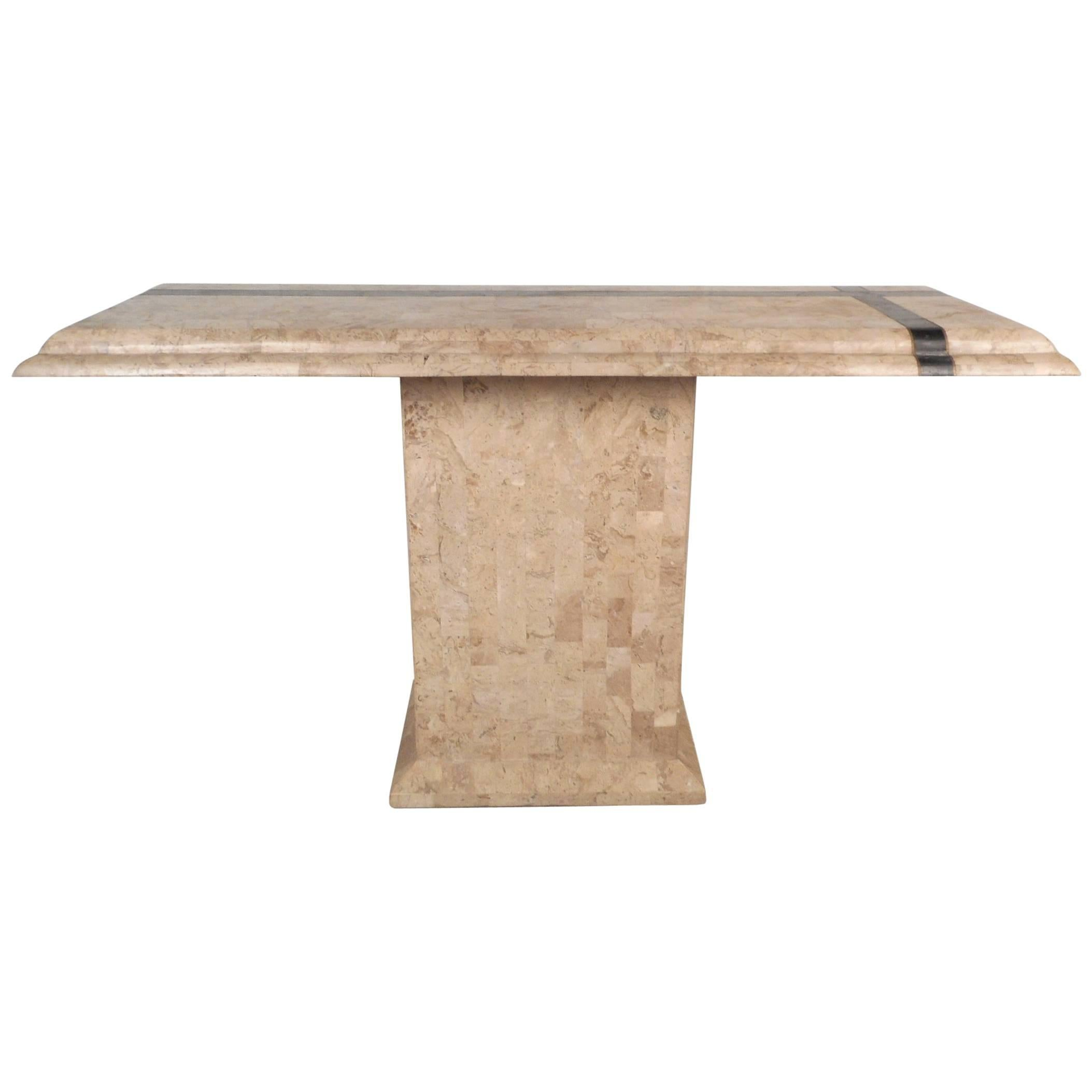 Amazing Mid-Century Modern Maitland-Smith Style Tessellated Stone Console Table