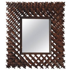 Crown of Thorns Tramp Art Wall Mirror