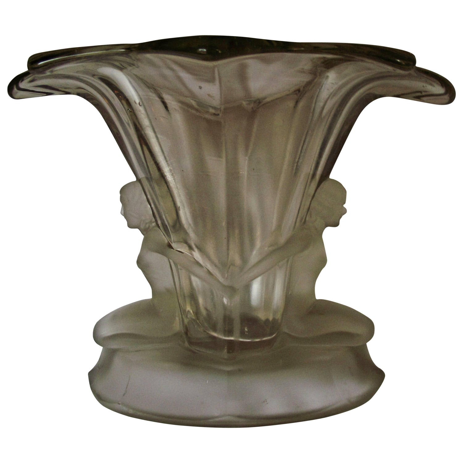1930s vases and vessels 748 for sale at 1stdibs art deco clear glass vase antique walther and sohne figural glass vase reviewsmspy