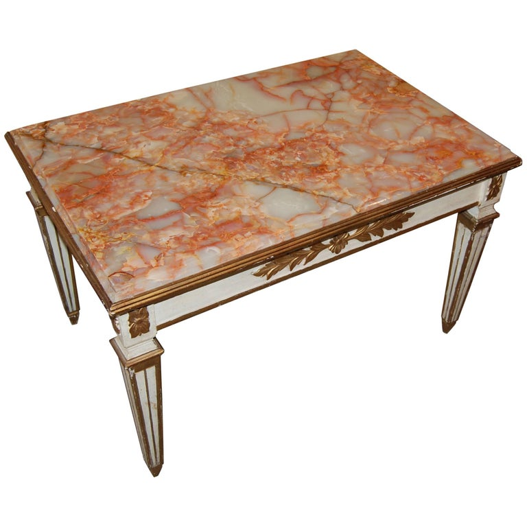 Belle Epoch Painted Low Table For Sale