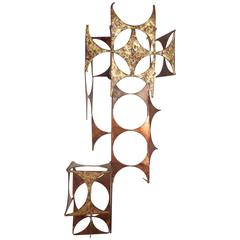 Mid-Century Modern C. Jere Style Copper and Brass Wall Art
