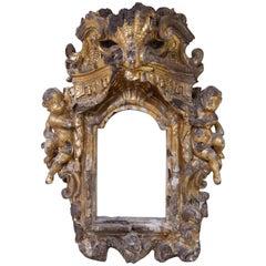 17th Century Italian Gilt Walnut Baroque Frame