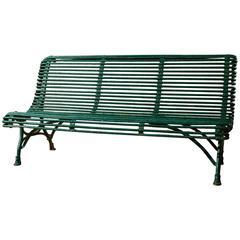 Three-Seat Green Arras Bench