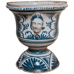 18th Century Earthenware Nevers Blue and White Jardinière