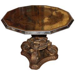 Fabulous Art Deco Mirrored Églomisé Table