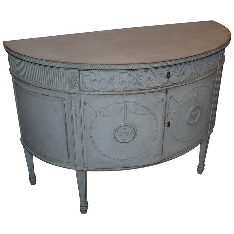 19th Century Demilune Buffet 1