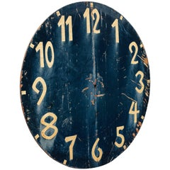 19th Century Iron Church Clock Face