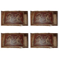 Set of Four 18th Century Architectural Venetian Boiserie Panels
