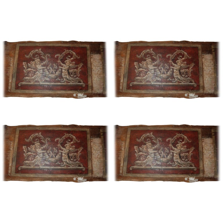 Set of Four 18th Century Architectural Venetian Boiserie Panels 1