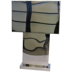 Curtis Jere Monumental Chrome Table Lamp
