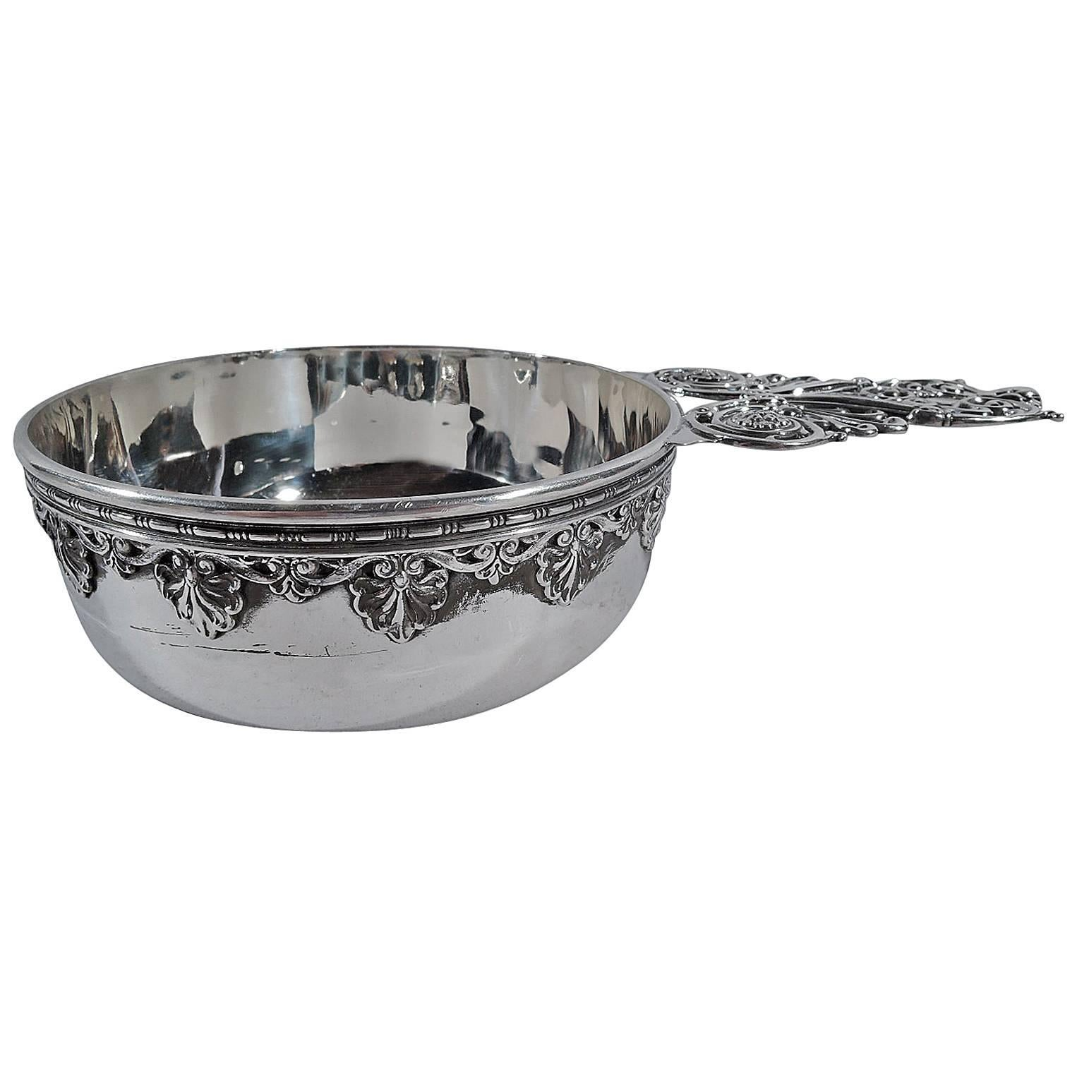 Fancy Classical Sterling Silver Porringer by Whiting