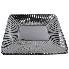 Unusual Modern Sterling Silver Bowl by Cartier