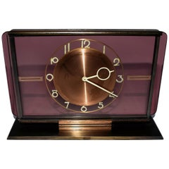Art Deco Glass Clock by Kienzl